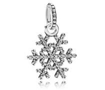 Damenkettenanhänger Schneeflocke Silber Cubic Zirconia onesize 390354CZ