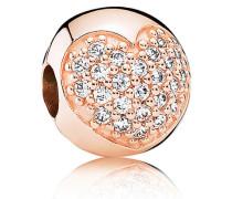 Pavé-Herz Clip Rose Cubic Zirkonia 781053CZ