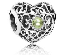 Damen Charm Herz Grün Silber Peridot onesize 791784PE
