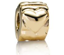 Schlagende Herzen Clip Gold 750243