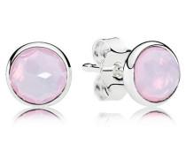 Oktober Tröpfchen Ohrstecker Pink Kristall 290738NOP