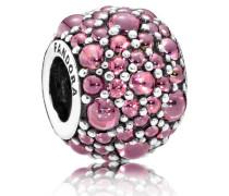 Charm  Glitzernde Tröpfchen pink  Silber Pink Cubic Zirconia 791755HCZ