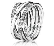 Ring  Funkelnde Bänder  Silber 190919CZ-48