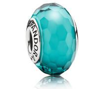 Charm  Facetten-Glas  Muranoglas-Muranoglas Silber Türkis 791606