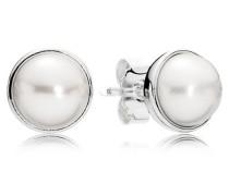Ohrstecker  Zeitlose Schönheit  Silber Weiß Süßwasserperle 290727P