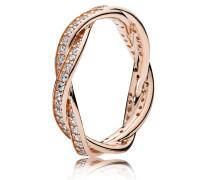 Rose Kombinierbarer Damen Ring Verbundene Treue rosegold 48 180892CZ-48