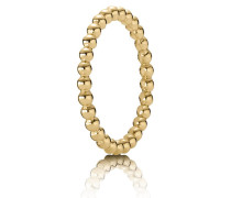 Kombinierbarer Ring  Metallperlen Gold 150117-48