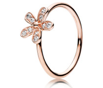 Rose Kombinierbarer Damenring Glanzvolles Gänseblümchen rosegold 48 180932CZ-48