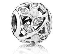 Charm  Leuchtende Blätter  Silber Verschiedene Steine 791754P