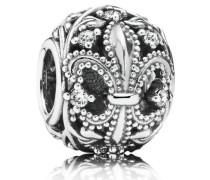 Damen Charm Fleur de Lis Silber Cubic Zirconia onesize 791378CZ
