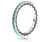 Kombinierbarer Ring Strahlende Herzen mintfarben Grün 191011NRG-48