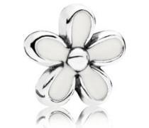 Damen Medaillon-Elemet für Medaillon-Halskette Gänseblümchen Silber onesize 792172EN12