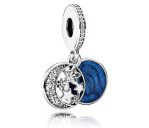 Vintage Nachthimmel Charm-Anhänger Blau Cubic Zirconia 791993CZ