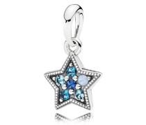 Damenkette Stern Blau Silber onesize 396376NSBMX
