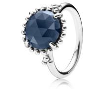 Kombinierbarer Ring  Glänzender Mitternachts Kristall  Silber Blau 190910NBC-48