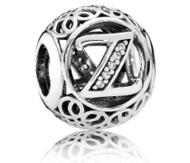 """Charm  Vintage """"Z""""  Silber Cubic Zirconia 791870CZ"""