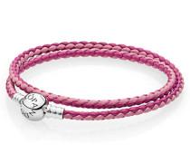 Armband Armband pinkes Leder zweifach gewickelt Pink 590747CPMX-D1