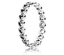 Kombinierbarer Ring  Gereihte Herzen  Silber 190980-48