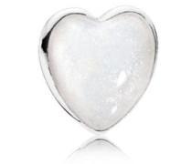 Damen Medaillon-Elemet für Medaillon-Halskette Herz Silber onesize 792169EN23