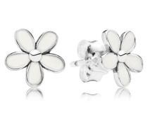 Ohrstecker  Gänseblümchen  Silber Weiß 290538EN12