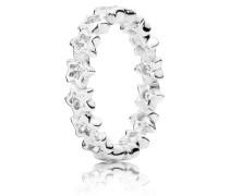Kombinierbarer Ring  Funkelnde Sterne  Silber 190974CZ-48