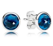 Dezember Tröpfchen Ohrstecker Blau Kristall 290738NLB