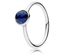 Kombinierbarer Ring  September Tröpfchen  Silber Blau 191012SSA-48