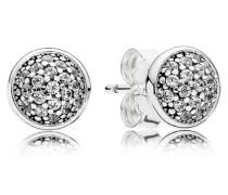 Damenohrstecker Tröpfchen Silber Cubic Zirconia onesize 290726CZ