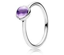 Kombinierbarer Ring  Malerisches Tröpfchen   Silber Lila 190983ACZ-48