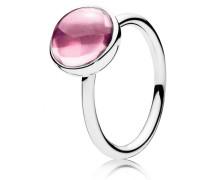 Kombinierbarer Ring  Malerisches Tröpfchen   Silber Pink 190982PCZ-48