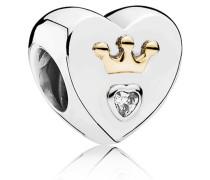 Damen Charm Herz Bicolor Gold Cubic Zirconia onesize 791739CZ
