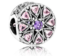 Charm  Strahlendes Ornament  Silber Pink Cubic Zirkonia