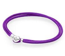 Armband Armband Cord lila zweifach gewickelt Lila 590749CPE-S1