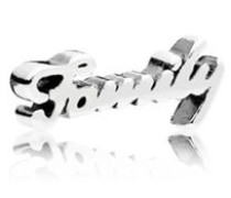 Damen Medaillon-Elemet für Medaillon-Halskette Family Schriftzug Silber onesize 796295