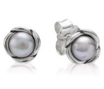 Ohrstecker   Sterling  Perle Silber Grau Süßwasserperle 290157GP