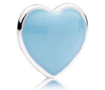 Damen Medaillon-Elemet für Medaillon-Halskette Herz Blau Silber onesize 792169EN41