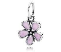 Pinke Kirschblüten Ketten-Anhänger Silber 390347EN40