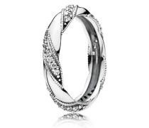 Kombinierbarer Ring  Liebes-Band  Silber 190981CZ-48