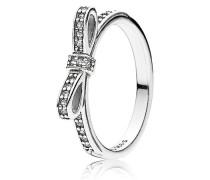 Kombinierbarer Ring  Glitzernde Schleife  Silber 190906CZ-48