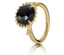 Kombinierbarer Ring mit großem schwarzen Spinell Schwarz 150145ME-48