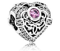 Charm  Opulentes Herz  Silber Lila Cubic Zirkonia 791964CZO