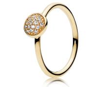 Kombinierbarer Damenring Tröpfchen Gold 48 150187CZ-48