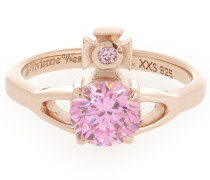 Sterling Silver Reina Petite Ring Pink Gold