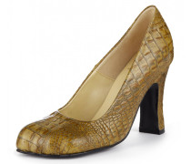 Animal Toe Court Shoe Brown
