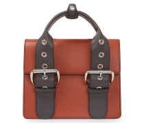 Alex Leather Handbag 131221 in Orange