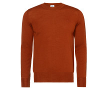Orange Classic Crew Neck Jumper
