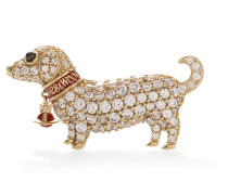 CNY Dog Brooch Gold Plated