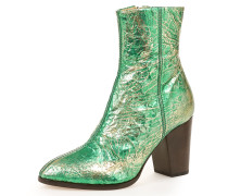 Jester Ankle Boots Green Tin Foil