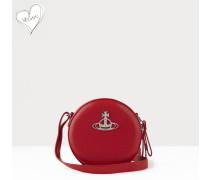 Johanna Round Crossbody Bag Red