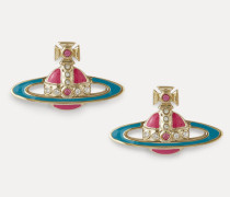 Small Neo Bas Relief Earrings Gold-Tone